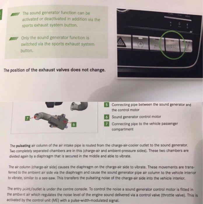Exhaust sound generator - Mercedes A-Class Forum