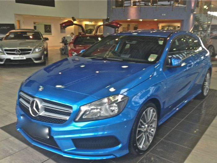 Blue A45 Amg Amg Sport in Southsea Blue